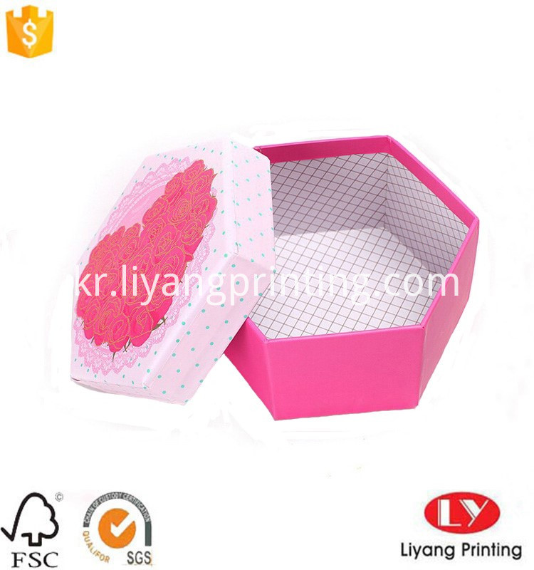 hexagon gift paper box